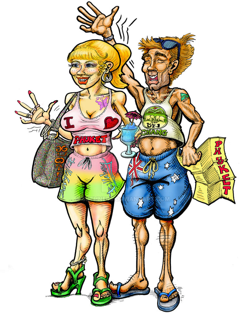 Typical tourists from Australia, Shazza and Waz by sethness