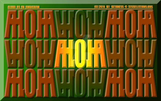 Ambigram: ALOHA