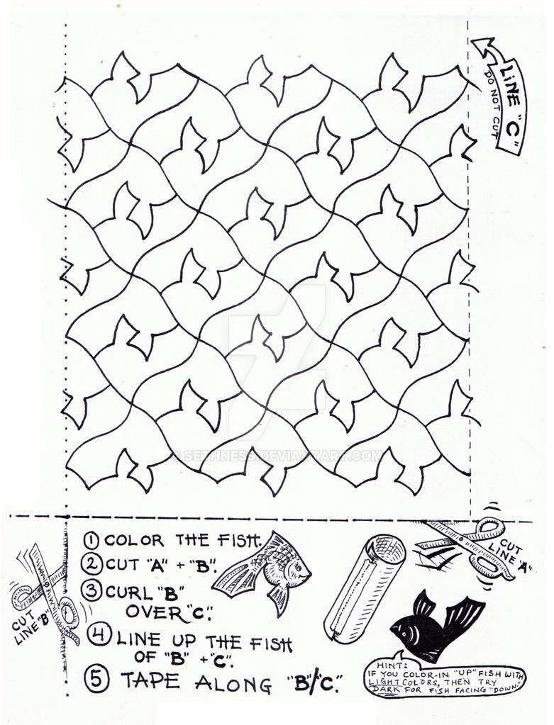 Goldfish Tessellation Tube by sethness