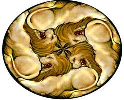 Lion Circular Tessellation 2 by sethness