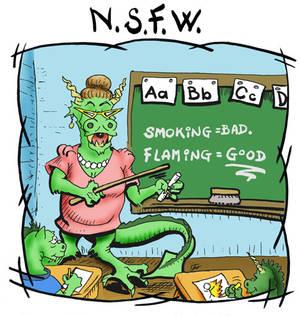 NSFW: Smoking bad flaming good