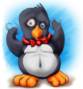 Linux tux penguin crazy by sethness