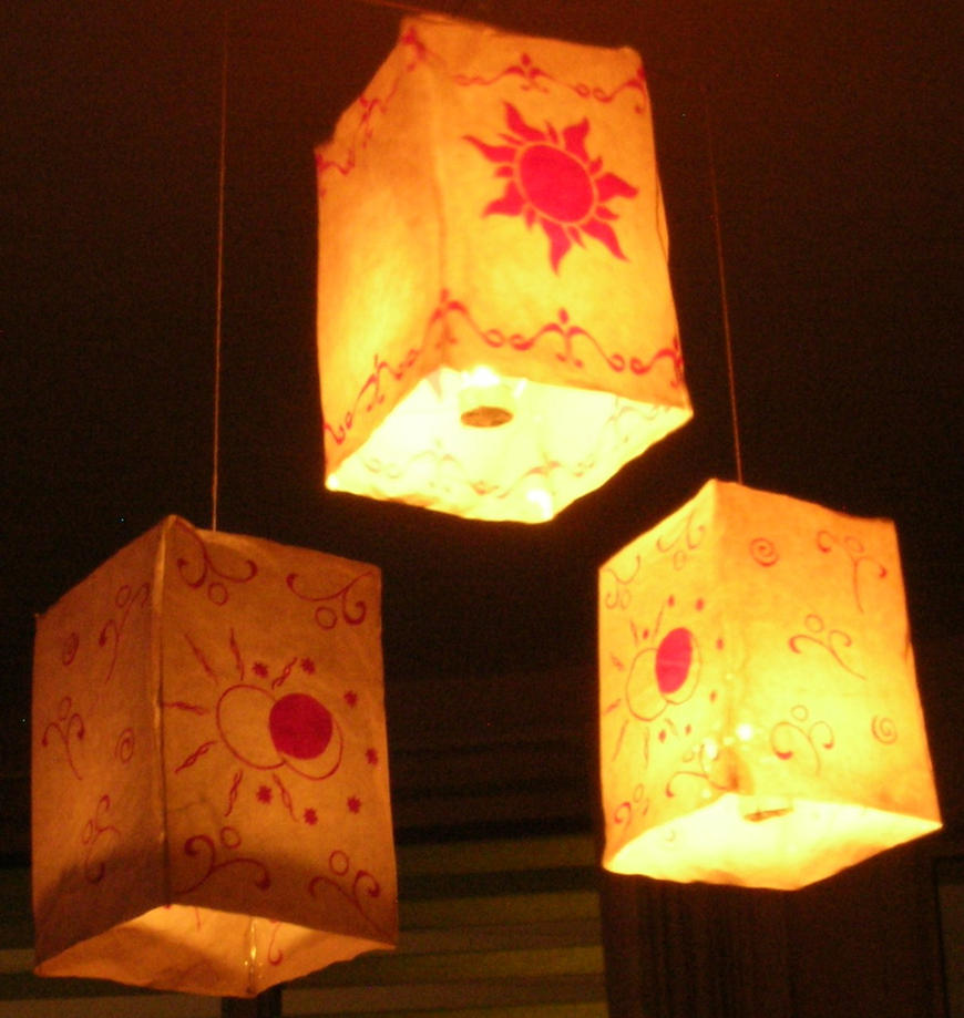Tangled Lanterns by RedCrosseKnight on DeviantArt for How To Make Paper Lanterns Tangled  70ref
