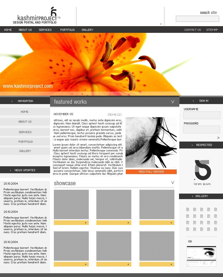 kashmir project : redesign