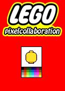 LEGO pixel collaboration by kevinvanderven