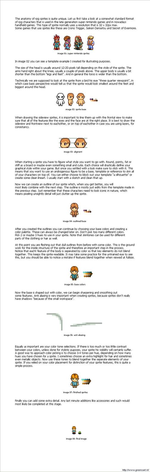 rpg sprite tutorial by kevinvanderven