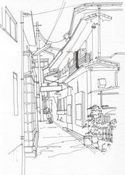 Fujiyoshida Hostel, line by Edgeman13