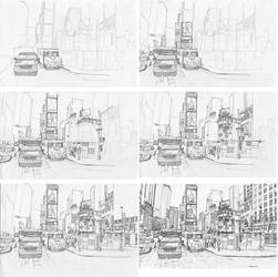 Times Square stage process