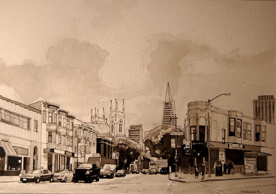 Stockton and Columbus, San Francisco by Edgeman13