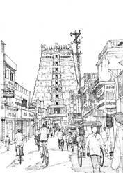Sri Meenakshi Temple, Madurai by Edgeman13