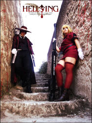 Alucard and Seras Victoria Cosplay by LeydaCosplay