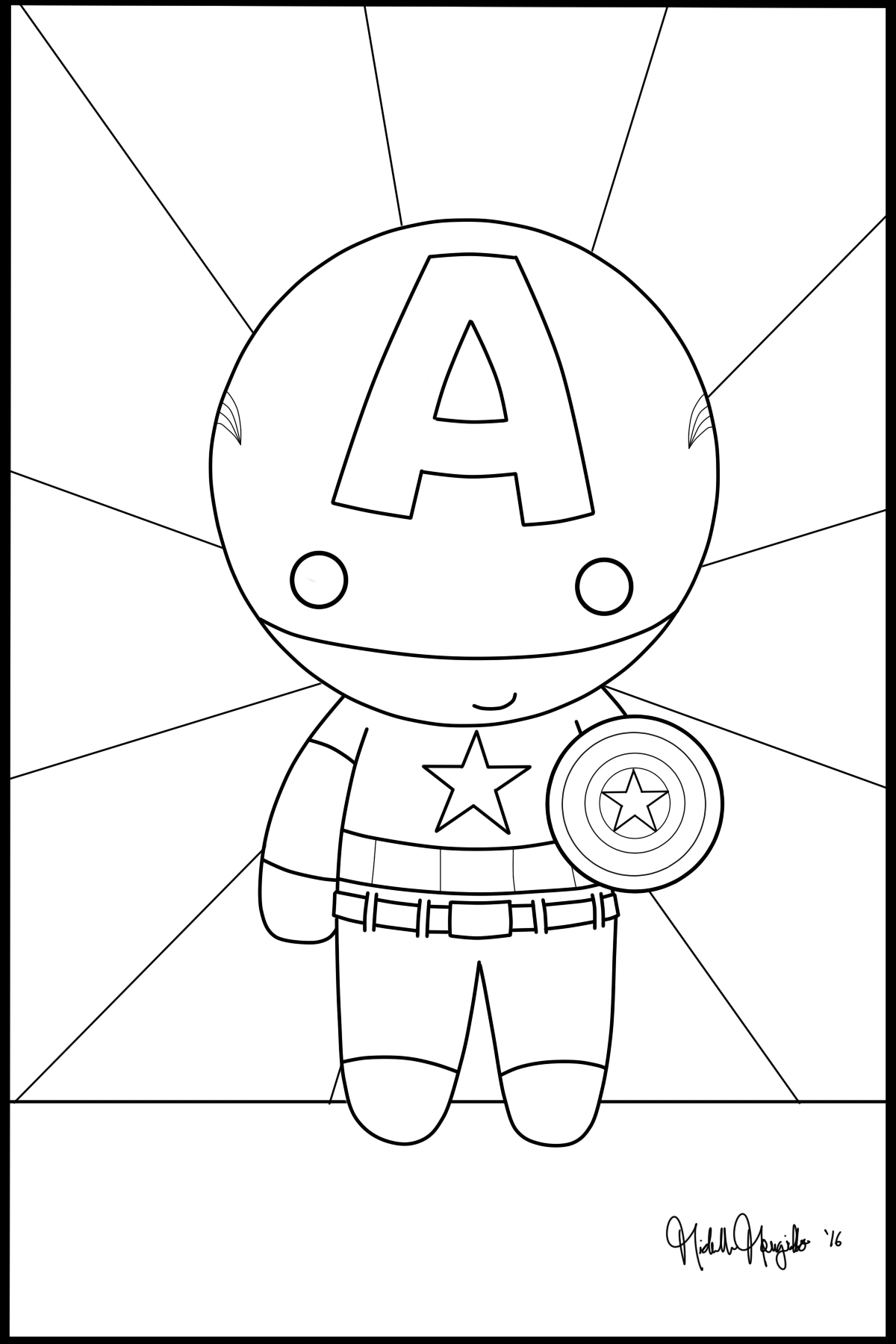 chibi captain america coloring page by kitty stark on deviantart