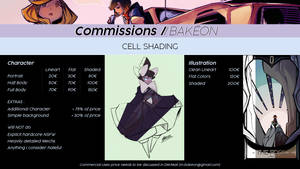 Commission Price List - Cell Shading by Bakeon0
