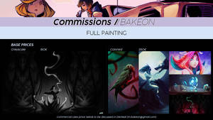 Commissions Price List - Full Painting by Bakeon0