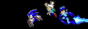 Sonic Finn and Mega Man WIP