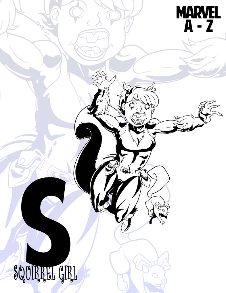 MARVEL Heroes A-Z::Squirrel Girl by RockDeadman