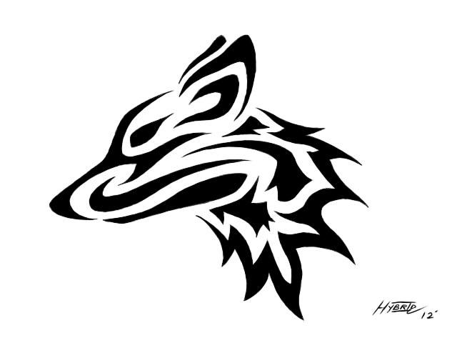Easy Tribal Wolf Head | www.pixshark.com - Images ...