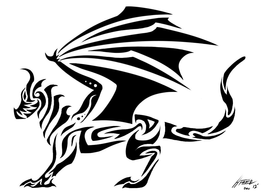 Tribal Dragon Full Body By Hybrid No1 On Deviantart