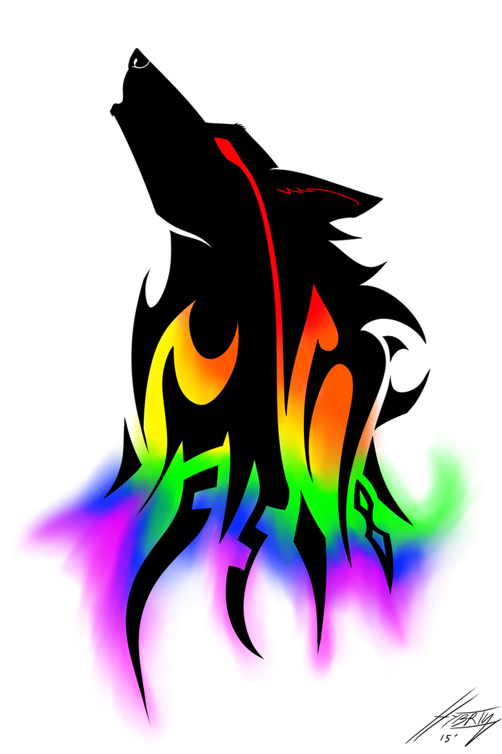 rainbow wolf wallpaper - photo #37