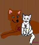 Wolf with her pup by kaylee12345