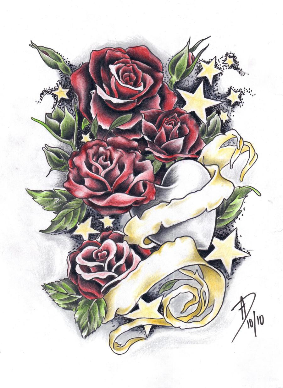 Red Roses By Ladygreytattoo On DeviantArt