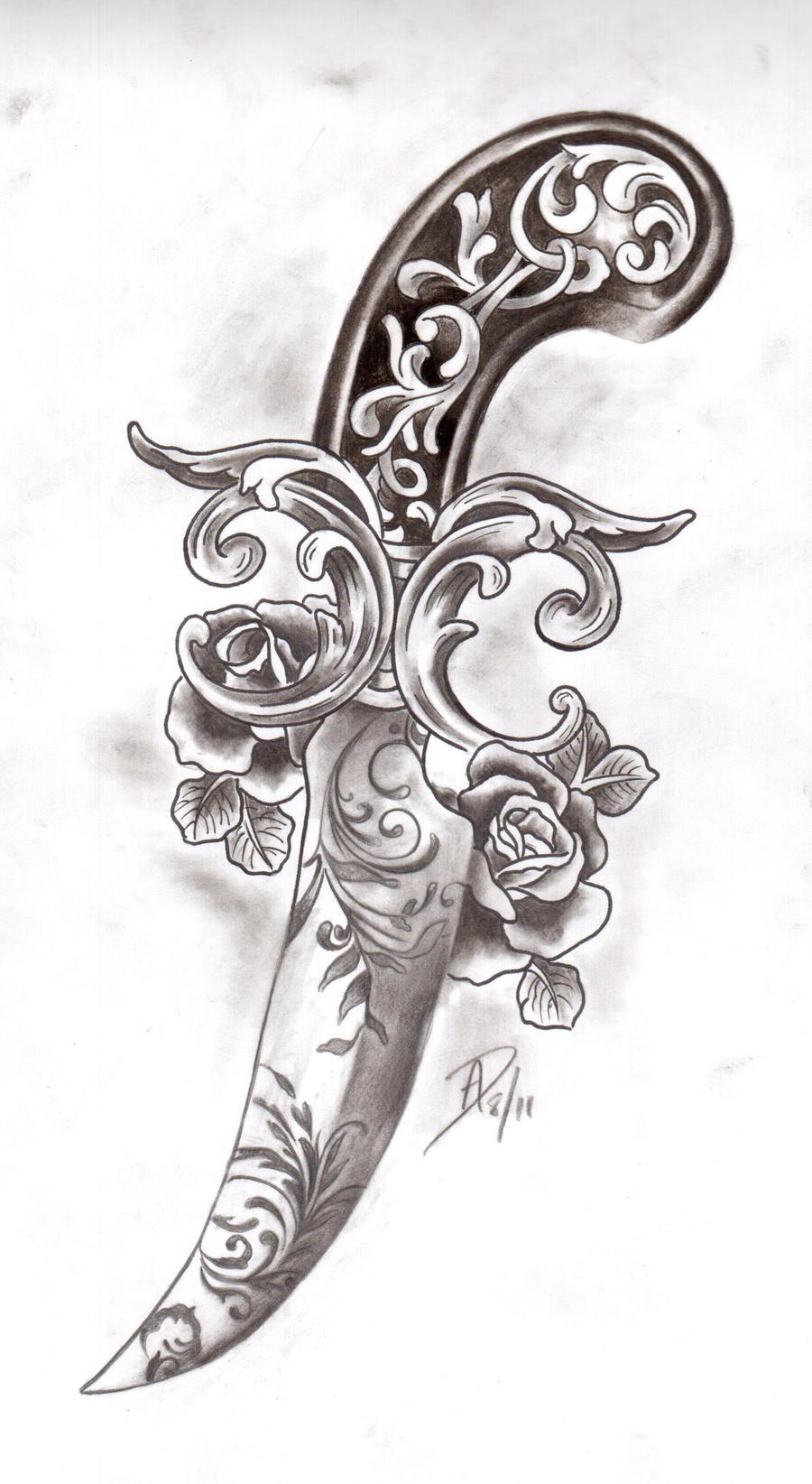 victorian dagger by ladygreytattoo on deviantart. Black Bedroom Furniture Sets. Home Design Ideas