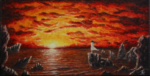 Sunset over the Sea by Friedemann-Reim