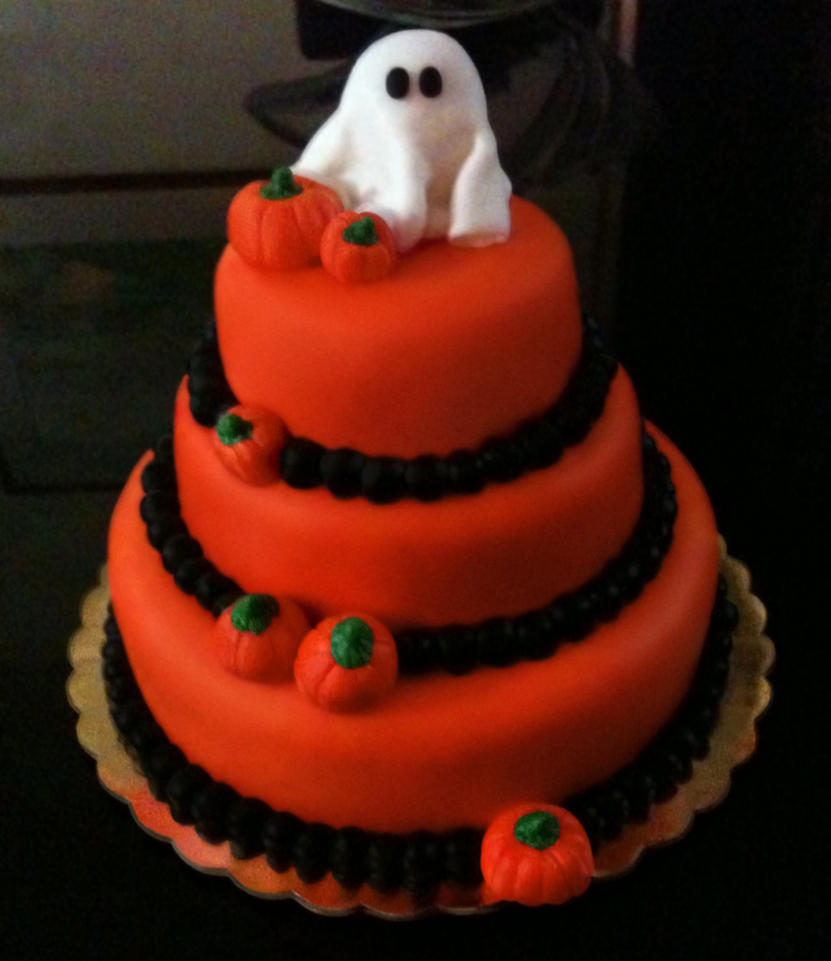 Halloween Fondant Cake by PixelOz on DeviantArt