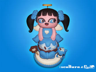 Molly And Charuca Style Angel In Sculpey 1 by PixelOz