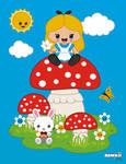 Alice In Kawaiiland by PixelOz