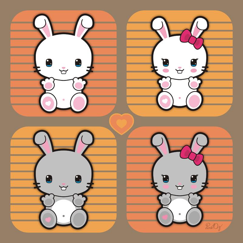 Kawaii Bunnies by PixelOz