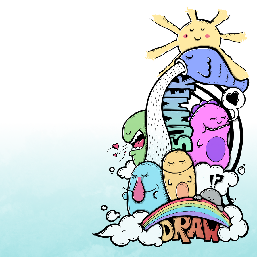 Summer drawing by DzaDze