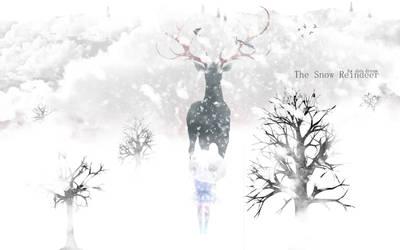 Wallpaper Snow - The Snow Reindeer by DarDream