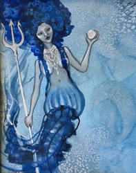 Jellyfish Mermaid with Trident