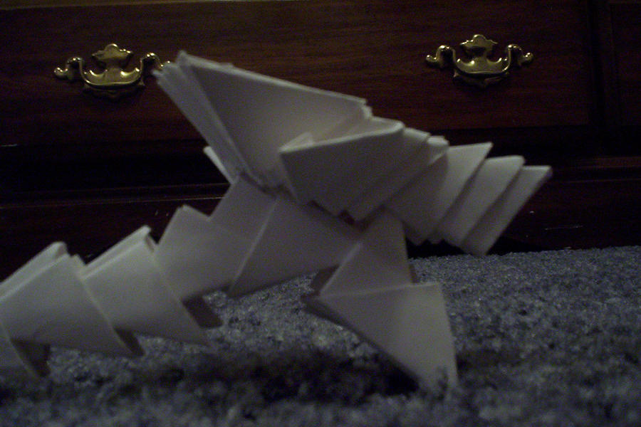 3d origami dragon head by animeperfect on deviantart for 3d paper wallpaper