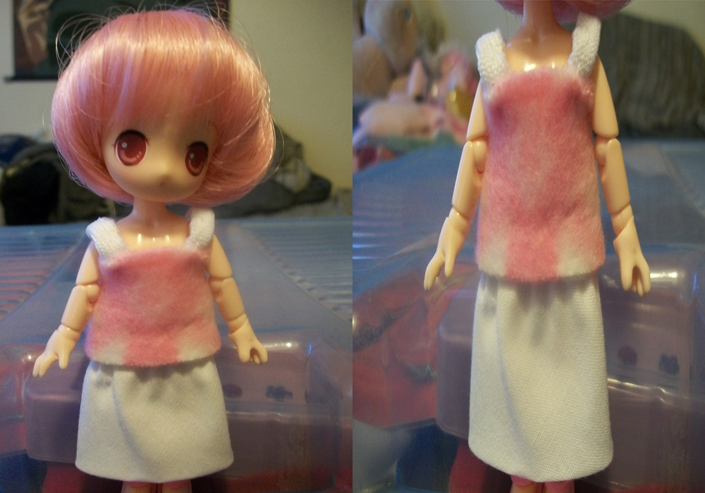 Obitsu - Pink and White Dress by Ashori