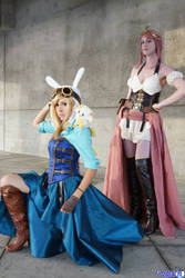 Steampunk Adventure Time Fionna and Bubblegum