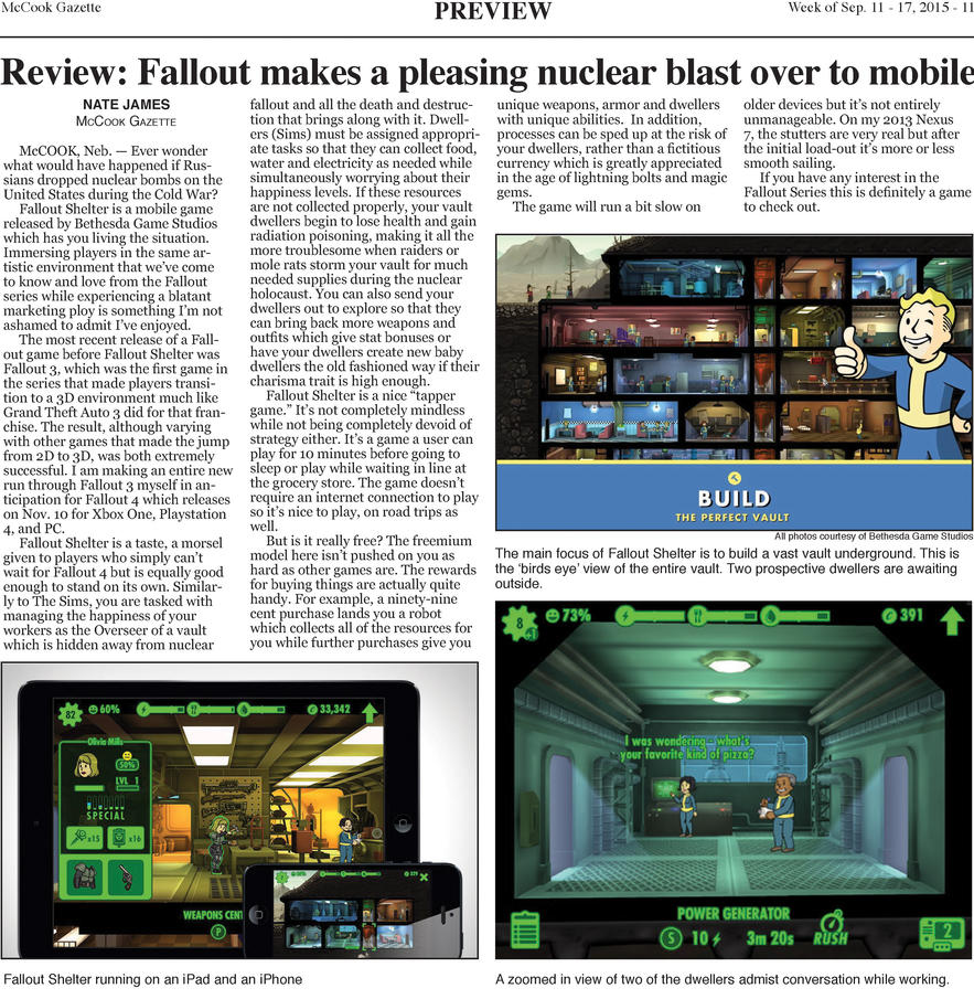 Preview|Review: Fallout Shelter by rajin