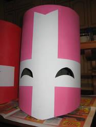 Castle Crashers pink helmet ready