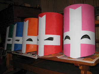 All castle crashers helmets painted