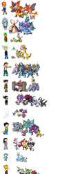 Star Elementals x Pokemon by Kirbyfier