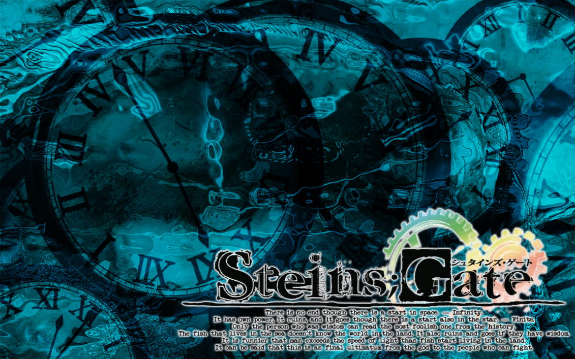 Steins gate clocks and logo wallpaper by nanayaemiya on deviantart