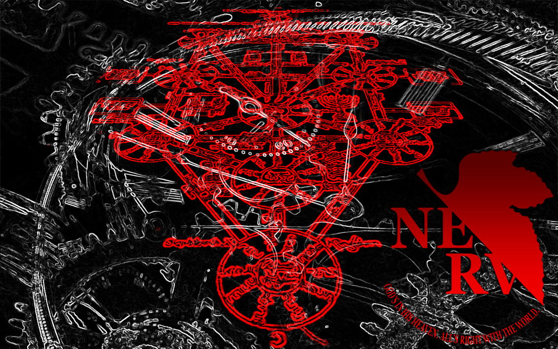 Evangelion Seraphim Diagram And Nerv Wallpaper By