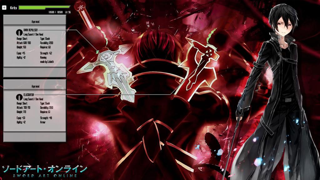 Sword Art Online Elucidator And Dark Repulser By NanayaEmiya