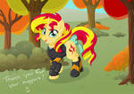 Sweater Weather Sunset Shimmer