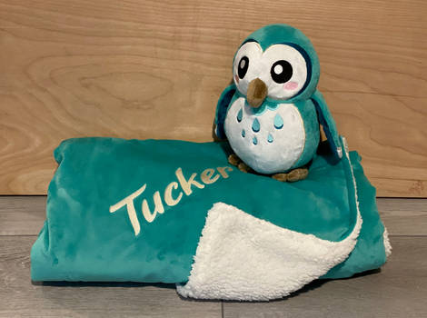 Plush Owl and Blanket