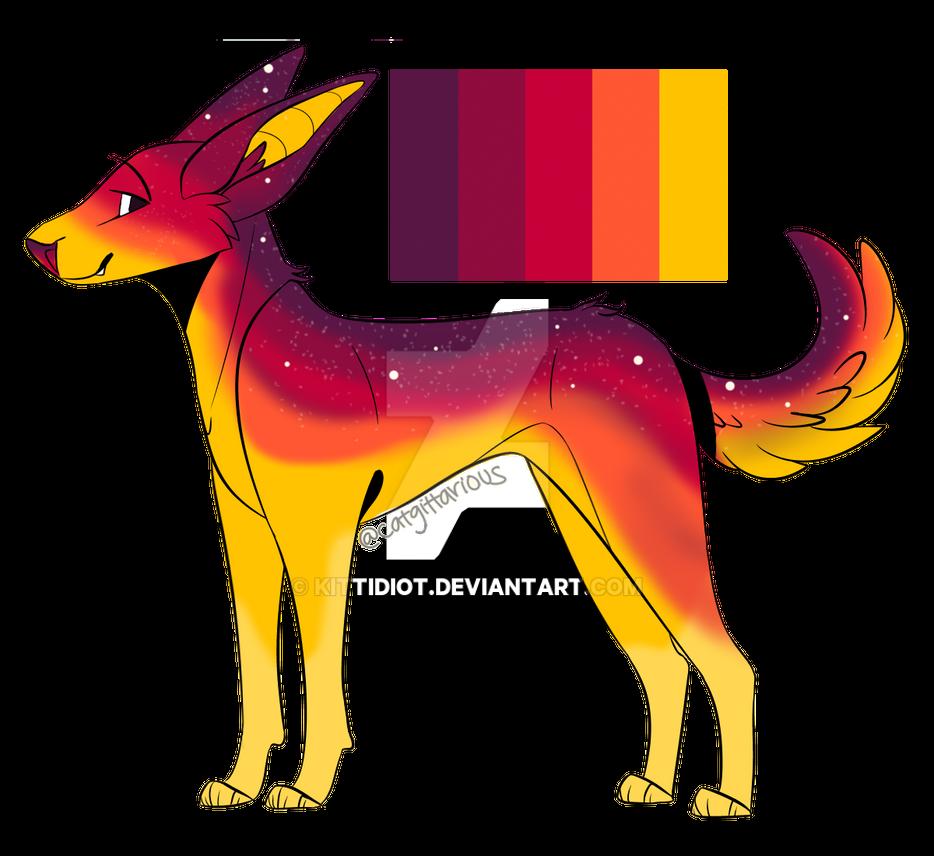 Sunset Dog Adopt (OPEN!) (OTA) by Kittidiot