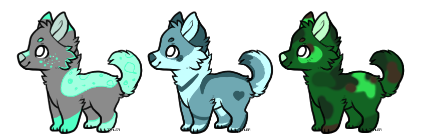 Pup Adopts (3/3 OPEN) by Kittidiot