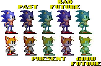 Sonic CD Water Palettes by Slick-Nick