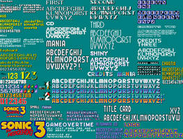 Genesis Sonic Font Pack by Slick-Nick